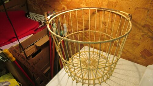 Antique Wire Egg Basket- Yellow
