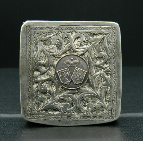 KYRA MINT * Sterling SILVER box - BLAZON of ROUERGUE (Aveyron) - 1900's - FRANCE