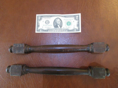 Pair Of Turned Oak Carry handles Beckwith Organ Co. 1904 Salvage
