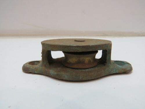1 INCH BRONZE DECK PULLEY BLOCK TACKLE BOAT SAIL (C4B632A)