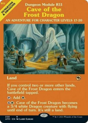 FOIL SHOWCASE Cave of the Frost Dragon 350 - Adventures in the Forgotten Realm