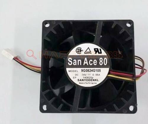 Sanyo 8CM 8038 9G0824G105 24V 0.56A 4-wire double ball inverter cooling fan New
