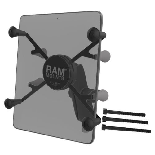 """RAM X-Grip with Motorcycle Handlebar Clamp Base for 7""""-8"""" Tablets"""
