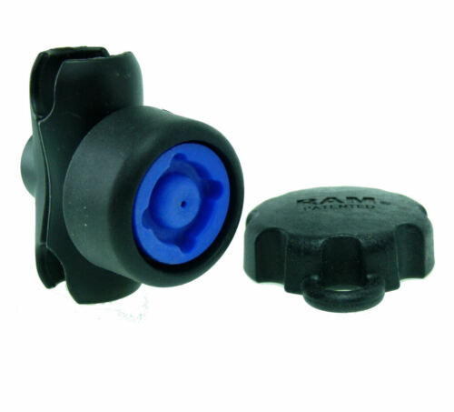 """Ram Double Socket Short Arm with Security Pin-Lock Knob for 1"""" Ball Bases"""