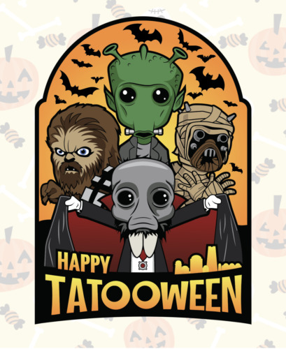 """Star Wars """"Happy Tatooine"""" Halloween 5"""" Deluxe Patch- Limited Ed (SWPA-KL-40)"""