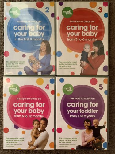 CARING FOR YOUR BABY - 4 DVDS From Birth To 2 Years The How To Guide Australian