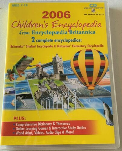 2006 Childrens Encyclopedia from Encyclopedia Britannica CD for ages 7-14