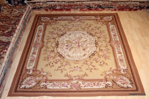 ON $ALE 8x10' hand woven chain stitch rug soft color French Victorian design