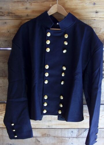 civil war union officers double breasted navy blue shell jacket velveteen 50Uniforms - 36041