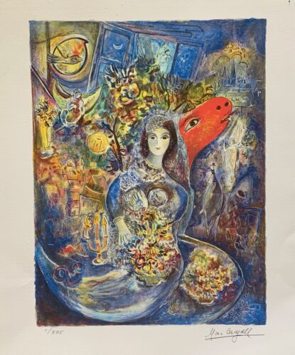 """Marc Chagall BELLA Limited Edition Facsimile Signed Giclee Art 12"""" x 9"""""""