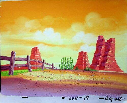 Muppet Babies 1984 Animation Production Hand Painted Background  CBS #MF