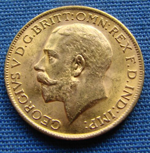 *SUPER 1927 GREAT BRITAIN - SOUTH AFRICA GOLD SOVEREIGN COIN - ESTATE FRESH*