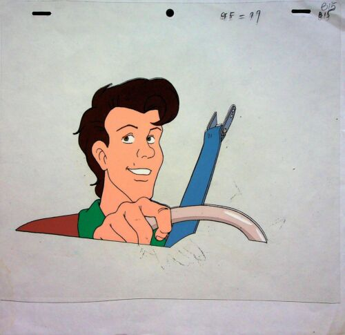 The Real Ghostbusters Production Animation Hand Painted PETER Cel & Pencil