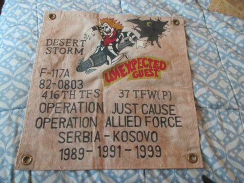 USAF F-117 NIGHTHAWK UNEXPECTED GUEST BEATLE JUICE  READY ROOM WALL FLAG