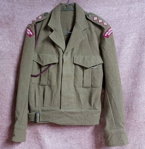 POST WW2 ARMY BATTLE DRESS TUNIC CAPTAIN MEDICAL CORPS