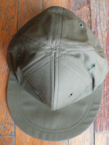 NOS REAL us army OG 106 field cap ball hot weather od green vietnam 1967 6 3/8