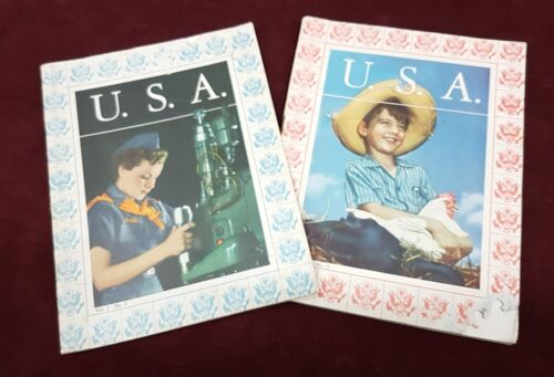 WW2 USA MINIATURE BOOKS ON AMERICA & AMERICANS IN WAR TIME LOT OF 2