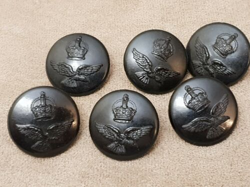 WW2 RAAF BLACK TUNIC BUTTONS LOT OF 6