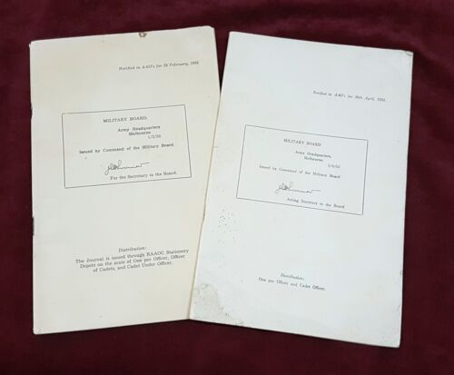 POST WW2 AUSTRALIAN ARMY BOOKS PERIODICAL REVIEW OF MILITARY LITERATURE 2