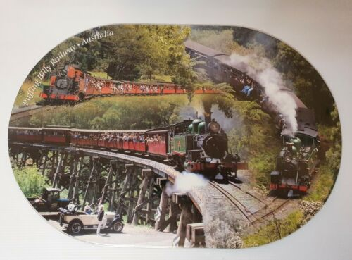 2 X Puffing Billy Place Mats Placemats Tourist Railway Victoria