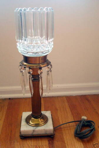 ANTIQUE LAMP ART GLASS DECO SHADE MARKED ARTISIC NYC CO