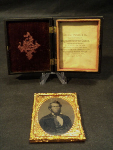 ANTIQUE DAGUERREOTYPE / AMBROTYPE PHOTO IN UNION CASE