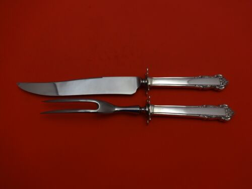 """English Shell by Lunt Sterling Silver Steak Carving Set 2pc 10 1/4"""""""