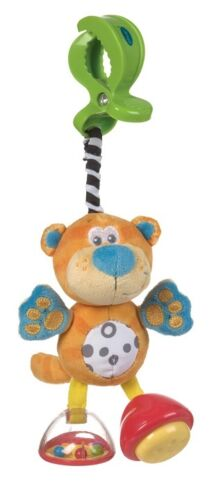 New Playgro Jungle Journey Dingly Dangly Baby Toy Squeaker Rattle Tiger