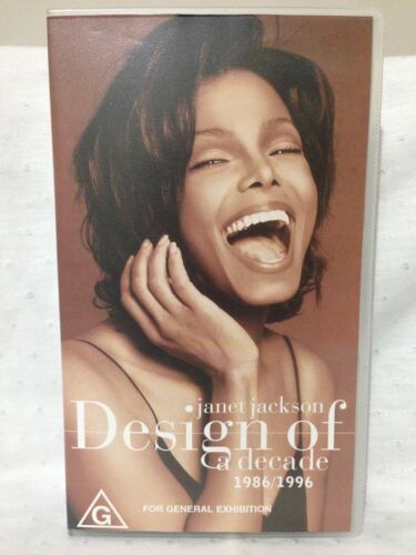 "JANET JACKSON ~ ""DESIGN OF A DECADE""  ~ RARE AS NEW VHS VIDEO"