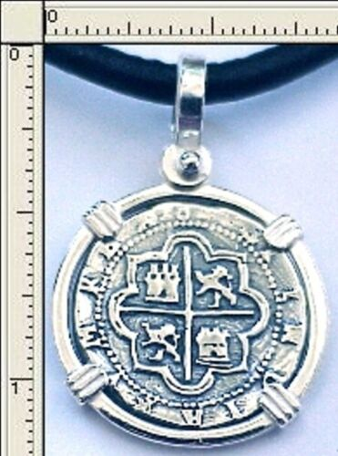 REPLICA SUNKEN TREASURE KEY WEST MEDALLION PIRATE SILVER PIECE OF EIGHT 1622