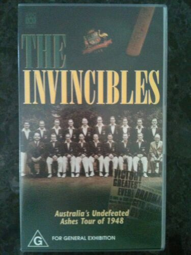 THE INVINCIBLES ~ AUSTRALIA'S UNDEFEATED ASHES TOUR OF 1948 ~ RARE VHS VIDEO