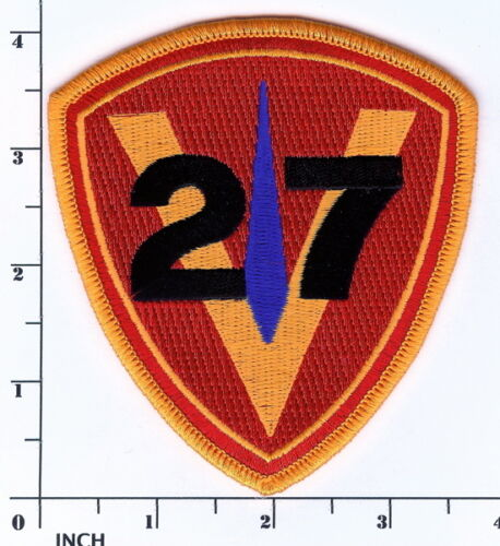 Usmc 27th Marine Regiment Patch Inactive 27th Marines Regt Veterans Wwii Vietnam