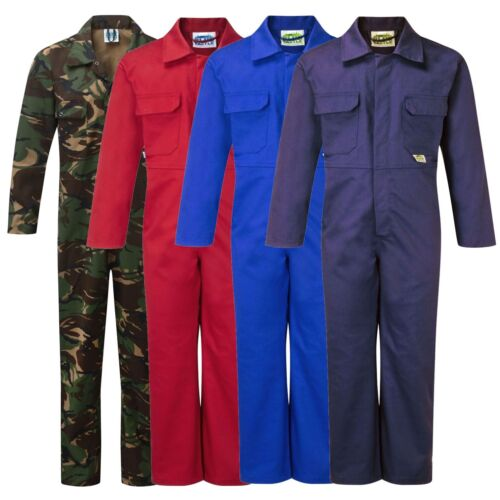 NEW KIDS CHILDS CHILDRENS BOYS & GIRLS BOILERSUIT OVERALLS COVERALL BOILER SUIT <br/> CAMO, ROYAL, NAVY, RED, 1-14 YEARS, FAST UK DELIVERY!!