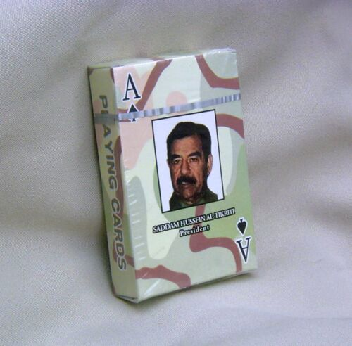 IRAQ Most Wanted ! Playing Cards NEW sealed Saddam Hussein OIF reproduction deckReproductions - 156470