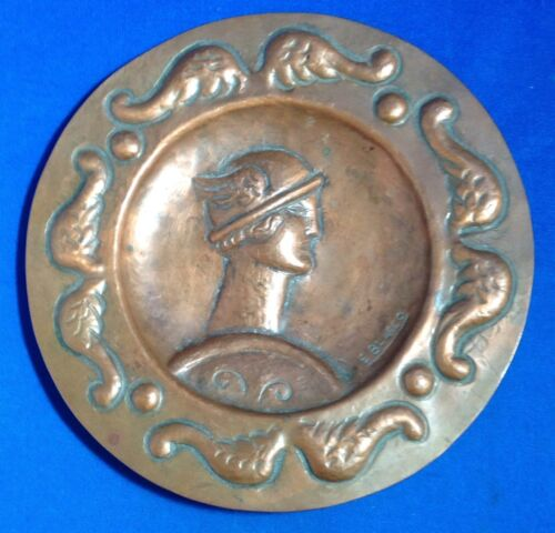 ARTS AND CRAFTS MOVEMENT COPPER PLATE, MERCURY, SPAIN SPANISH ARTIST E. BLASCO