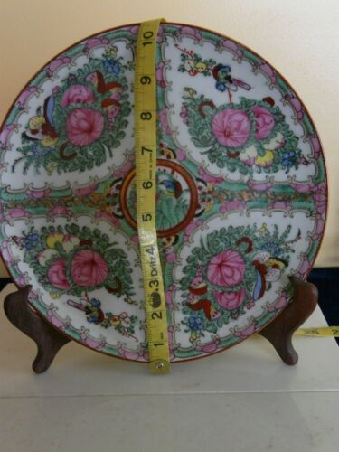 Beautiful Japanese Rose Medallion Famille Pink Porcelain Collector Plate Marked