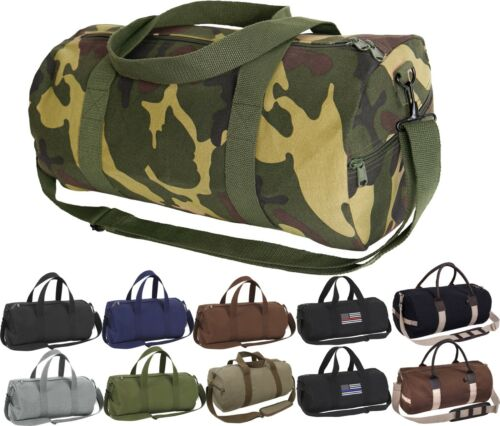Camo Tactical Shoulder Bag Sports Canvas Gym Duffle Carry Strap Tote 19""