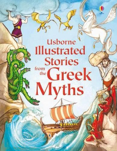 Illustrated Stories from the Greek Myths (English) Hardcover Book Free Shipping!