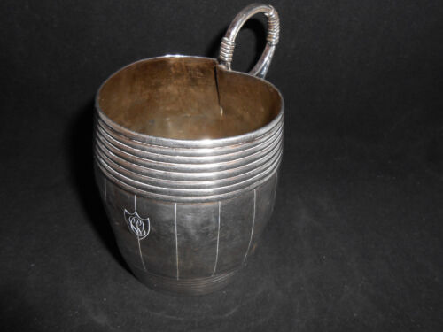 SILVER TANKARD CUP W/ HANDLE FROM BETWEEN 1798 - 1809 STERLING FRENCH ? VERY OLD