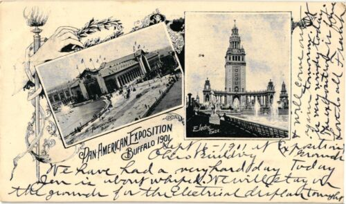 PAN-AMERICAN EXPOSITION,BUFFALO 1901 PRIVATE MAILING CARD POSTCARD/2152