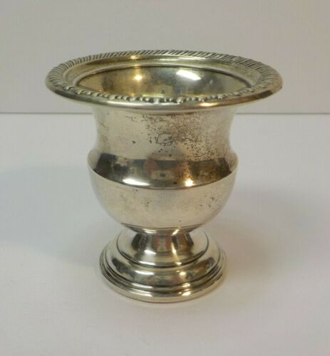 NICE VINTAGE STERLING SILVER TOOTHPICK HOLDER, CLASSIC URN DESIGN, WEIGHTED BASE