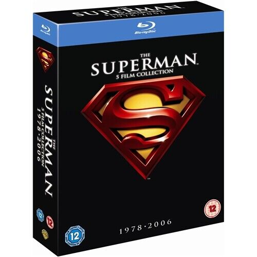 """THE SUPERMAN 5 FILM COLLECTION 1978-2006 BOX SET 8 DISCS BLU-RAY RB """"NEW&SEALED"""""""