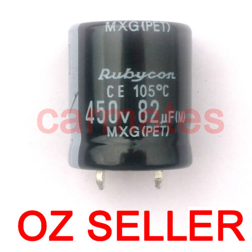 Capacitor 82uf 450V 105°C 22X25mm for ASUS LCD Monitor Screen Repair Rubycon AU