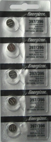 Energizer 397 396 (SR726SW) Silver Oxide Watch Batteries (1 pack of 5)