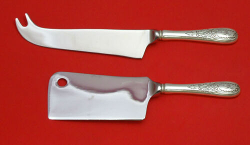 WINDSOR CASTLE BY TUTTLE STERLING SILVER CHEESE SRVR SERVING SET 2PC HHWS CUSTOM