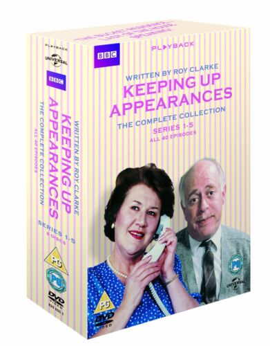 """KEEPING UP APPEARANCES COMPLETE SERIES COLLECTION 1-5 DVD BOX SET 8 DISC """"NEW"""""""