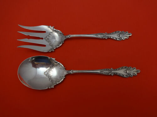 Raphael by Rogers & Hamilton Plate Silverplate Salad Serving Spoon & Fork