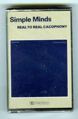 CASSETTE TAPE NEW SIMPLE MINDS REAL TO REAL CACOPHONY