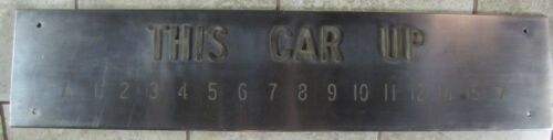 Old ELEVATOR 'THIS CAR UP' Sign Stainless S NYC Architectural Building Hardware