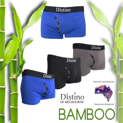 Mens Underwear - Men's Bamboo Boxer Briefs - Trunks - Jocks S M L XL XXL <br/> Single Pairs, 4 Pack Deal and 8 Pack Deal!